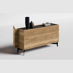 Alpen double-sided sideboard, with 180 ° door opening