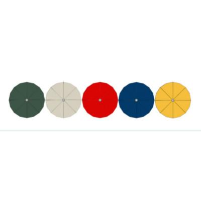 Parapluie double face RICCIONE 200/8, couleur unie à l'extérieur, motifs à l'intérieur
