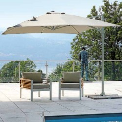 Square parasol 3 x 3 m with...