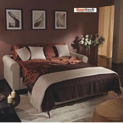 Hoppla' Dedalo divano letto con rete elettrosaldata con tessuto sfoderabile