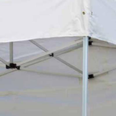 Gazebo Piechievole 3 x 4,5 m polyester imperméabilisé blanc