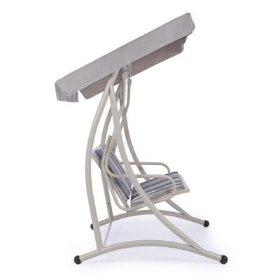Dondolo 2P GRELY seduta in textilene, struttura in acciaio, colore avorio