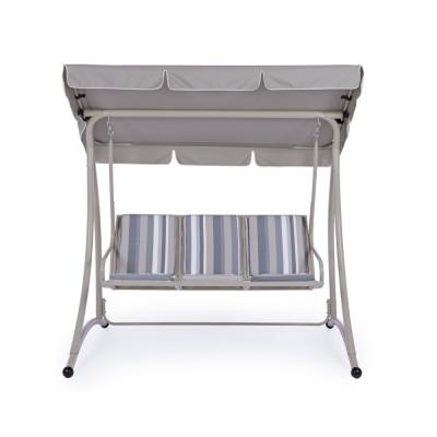 Dondolo 3P GRELY seduta in textilene, struttura in acciaio, colore avorio