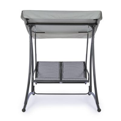 Dondolo 2P GRELY seduta in textilene, struttura in acciaio, colore antracite