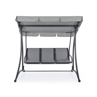 Dondolo 3P GRELY seduta in textilene, struttura in acciaio, colore antracite
