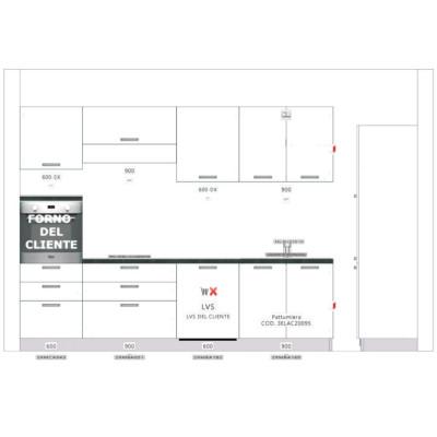 420 cm modular kitchen...