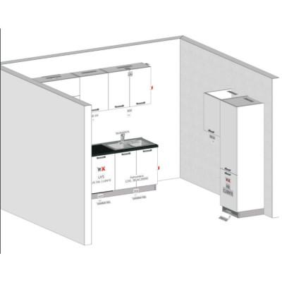 Progetto cucina componibile cm 420 senza elettrodomestici