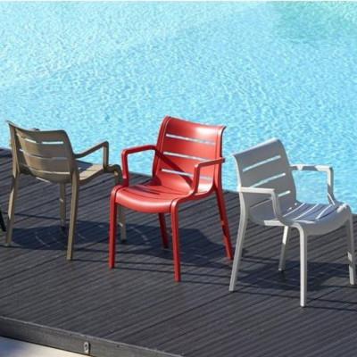 Scab Design Sedia con braccioli Sunset Verde Pistacchio Pacco da 4 Sedie