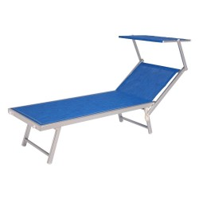 Melange blue aluminum sunbed