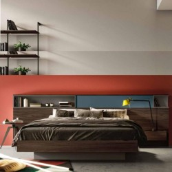 Modern double bed in wood,...
