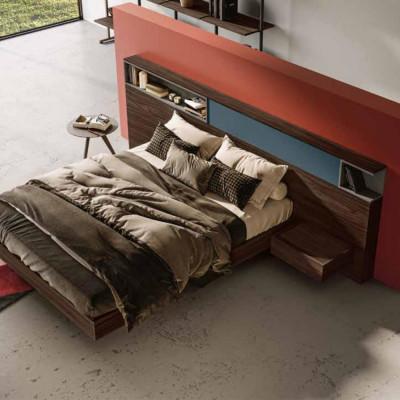 Lit double moderne en bois, modèle Dado
