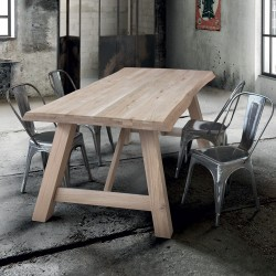 Flora fixed table in solid...