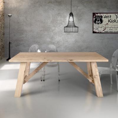 Table fixe en placage de...
