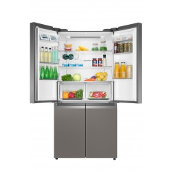Haier HTF-540DGG7 side-by-side refrigerator Freestanding 528 LF Stainless steel