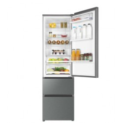 Haier A3FE837CGJ refrigerator with freezer Freestanding 354 L Stainless steel