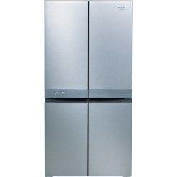 Hotpoint HAQ9 E1L side-by-side refrigerator Freestanding 591 LF Stainless steel