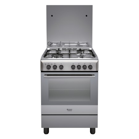 Hotpoint H6TMH2AF (X) IT cucina Piano cottura Gas Acciaio inossidabile A