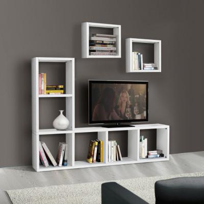 Carla TV bookcase in white...