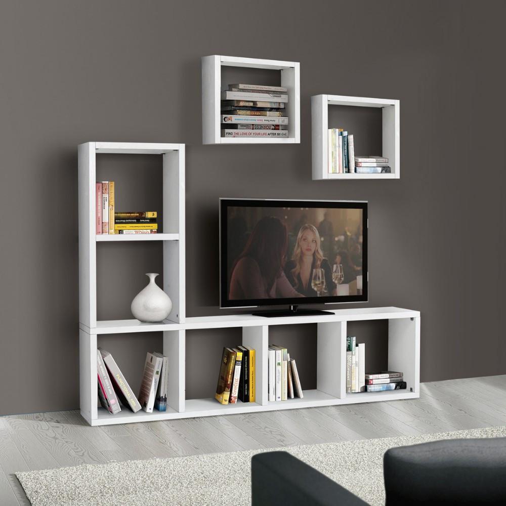 Libreria porta tv Carla laminato