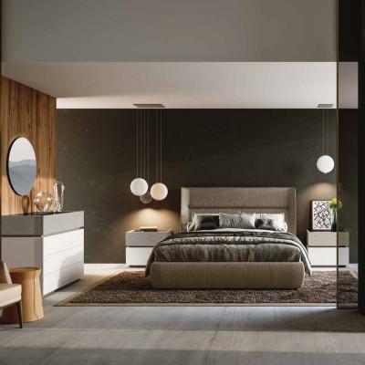 Camera da letto Alba armadio scorrevole letto con contenitore