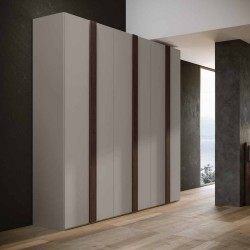 Alba bedroom wardrobe with hinged doors and bed with fixed base
