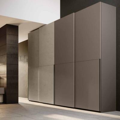 Bedroom Elvira sliding bed wardrobe with storage unit