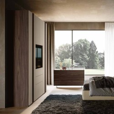 Camera da letto Gloria armadio battente porta tv letto contenitore