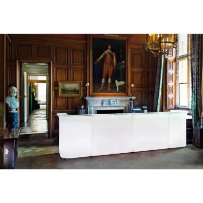 Comptoir de bar en polyéthylène d'angle lumineux BREAK CORNER design Slide Studio