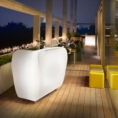 Luminous bar counter with...
