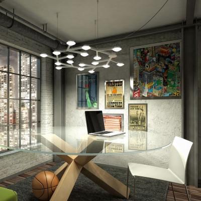 Artemide Led Net White ceiling lamp
