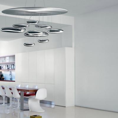 Mercury Chrome ceiling lamp