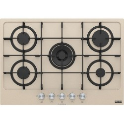 FRANKE MARIS 5 BURNERS GAS HOB WITH DOUBLE CROWN 75 CM