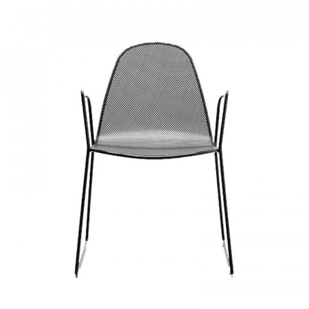 Camilla 2 outdoor chair with structure, seat and back in pre-galvanized steel, anthracite color