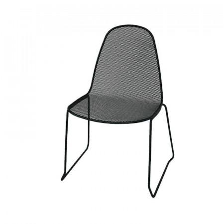 Camilla outdoor chair 1 structure, seat and back in pre-galvanized steel, anthracite color