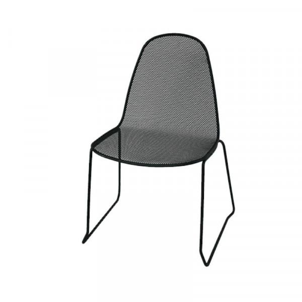 Chaise d'extérieur Camilla 1 structure, assise et dossier en acier pré-galvanisé, couleur anthracite
