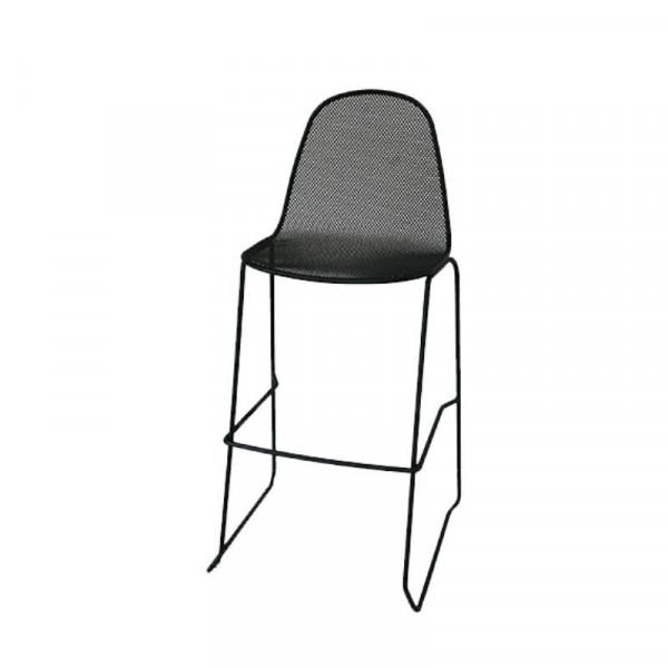 Sgabello da esterno Camilla 75 struttura, seduta e schienale in acciaio pre-zincato, colore antracite