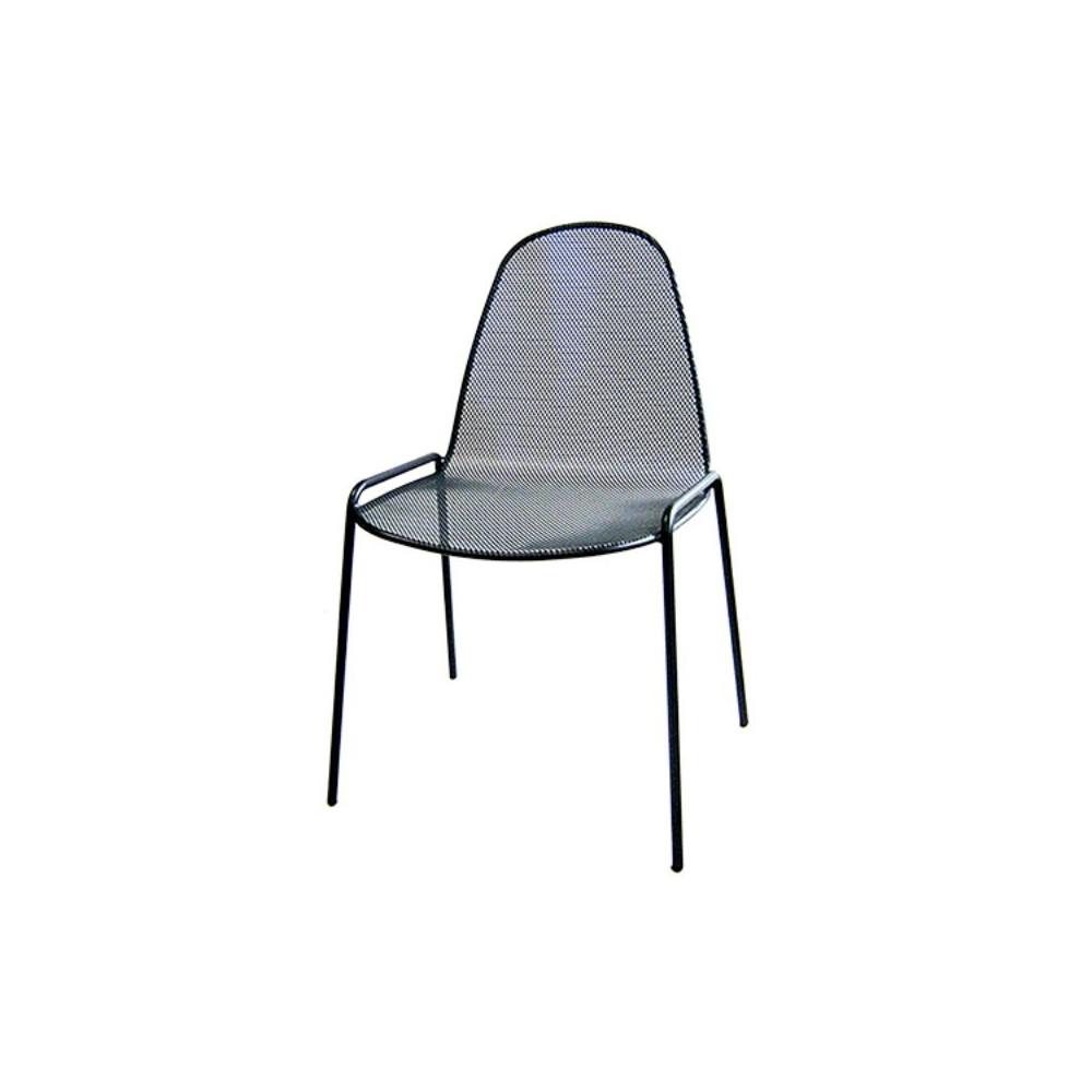 Sedia da esterno Mirabella 1 in acciaio