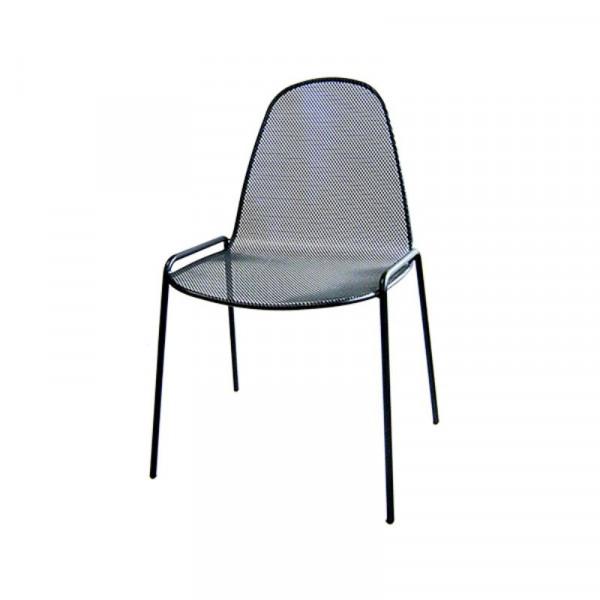 Sedia da esterno Mirabella 1 in acciaio pre zincato, colore antracite