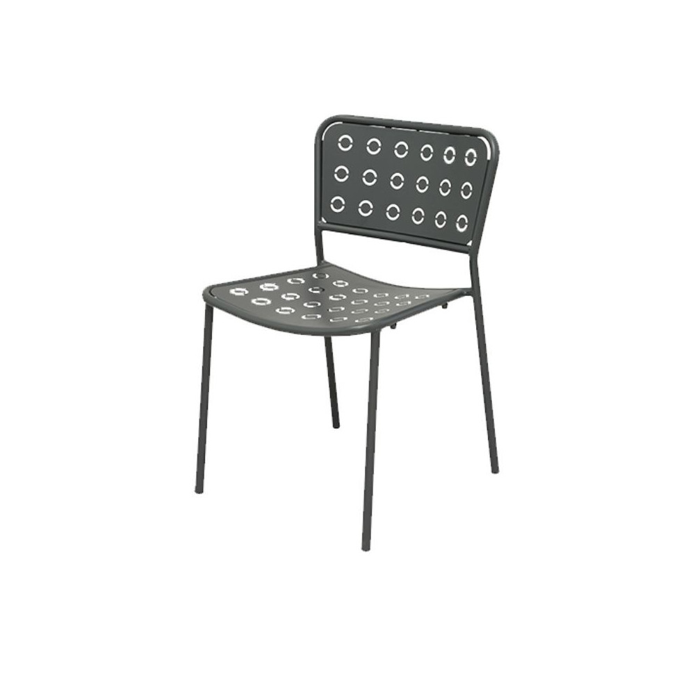 Pop 1 outdoor chair with seat and back