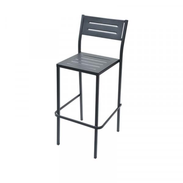 Sgabello da esterno Dorio 75 struttura seduta e scienale in acciaio pre-zincato, colore antracite