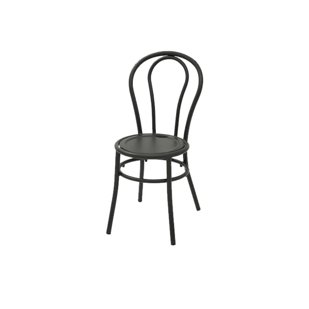 Bistro chair with anthracite color