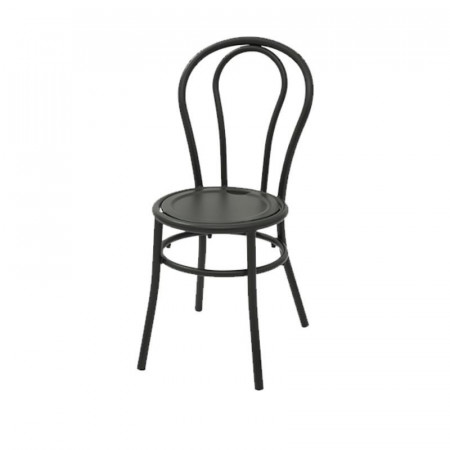 Bistro chair with anthracite color pre-galvanized steel structure, stackable