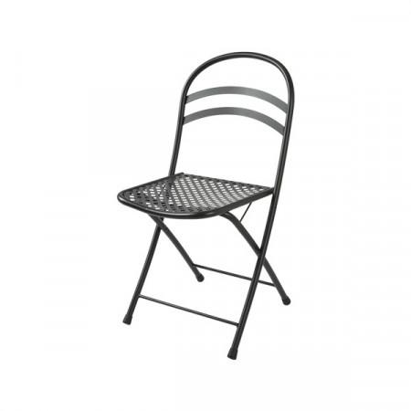 Flipper outdoor chair, structure, seat and back in pre-galvanized steel, anthracite and white color