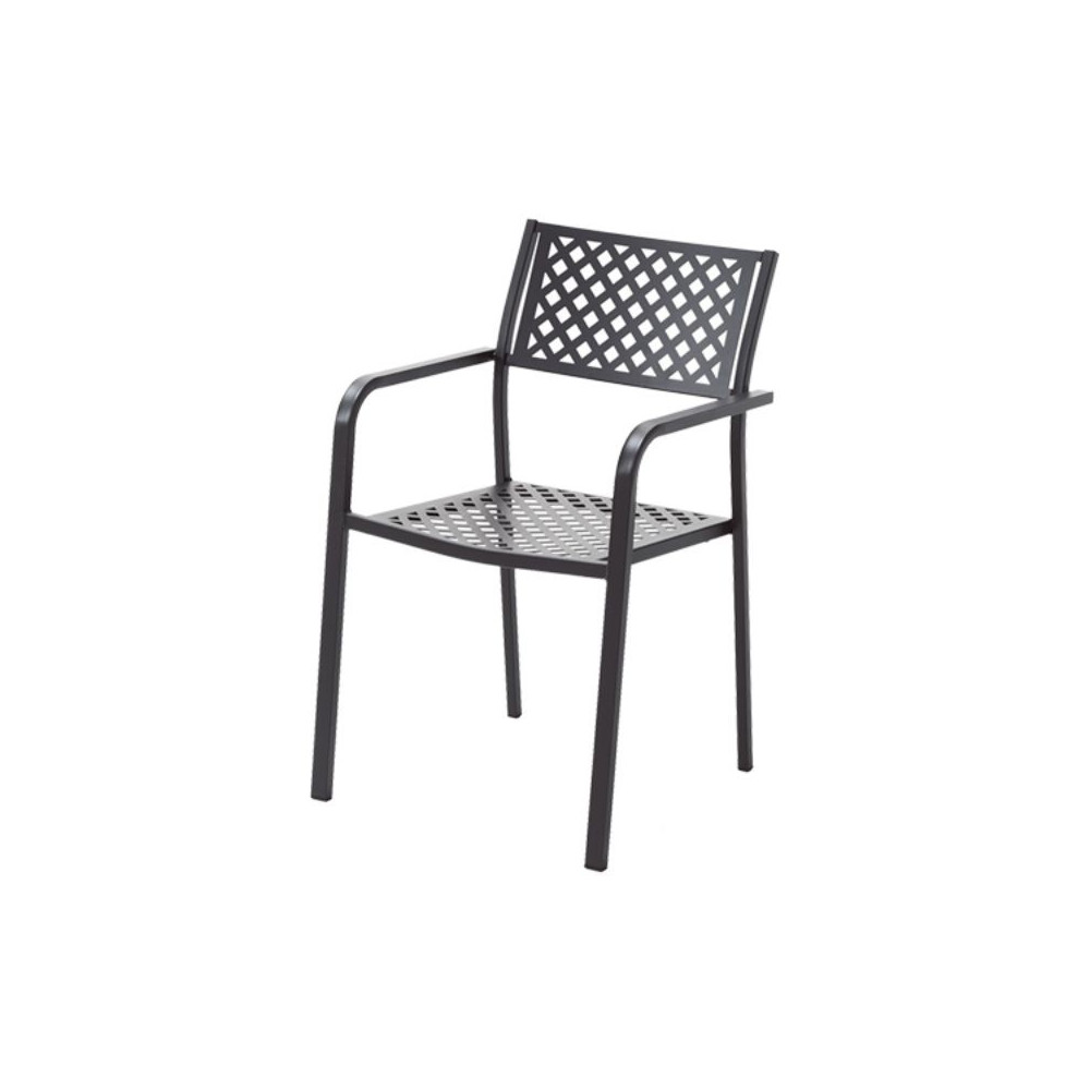 Lola 2 outdoor chair with armrests,