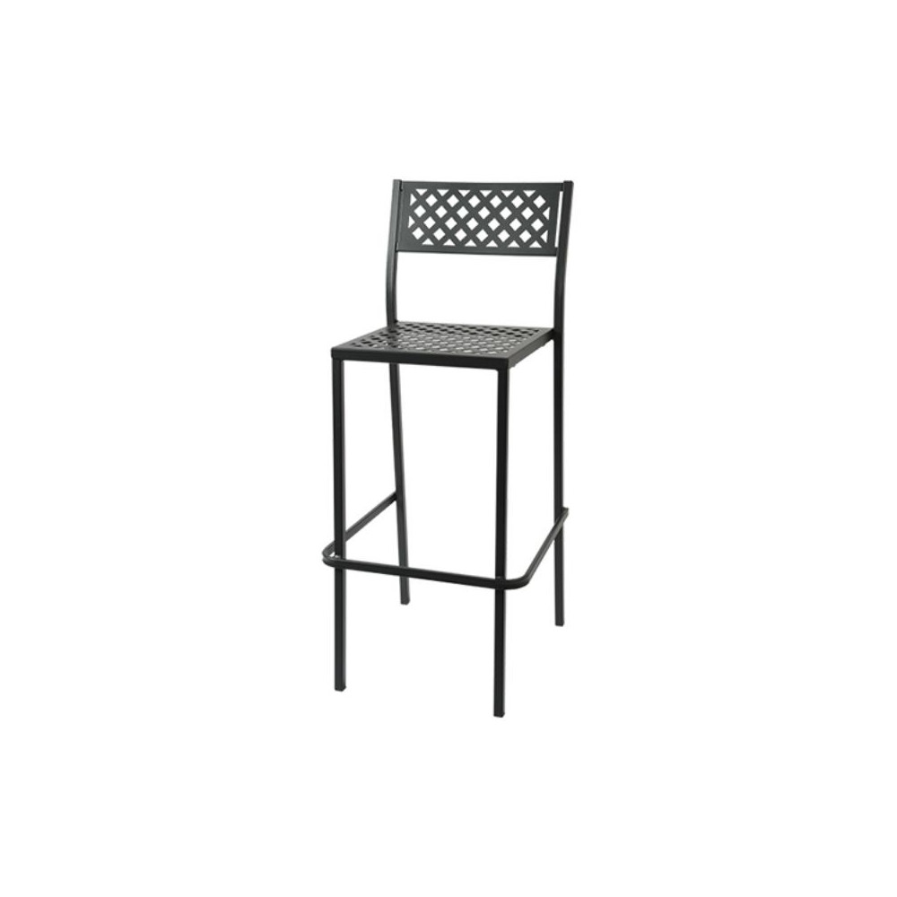 Lola 75 outdoor stool seat and back