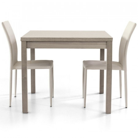 Patrick 1 table with structure and top in gray oak laminate, book opening