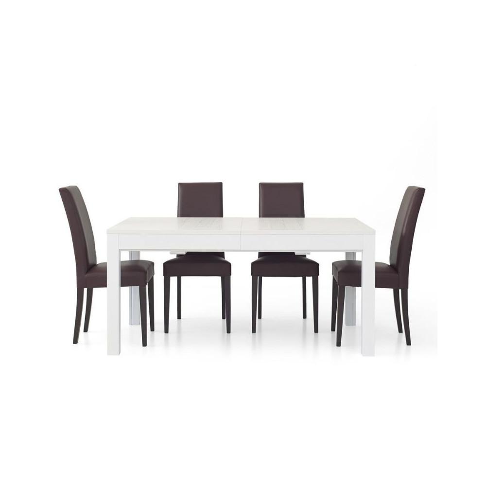 Lar s 1 rectangular table in white ash