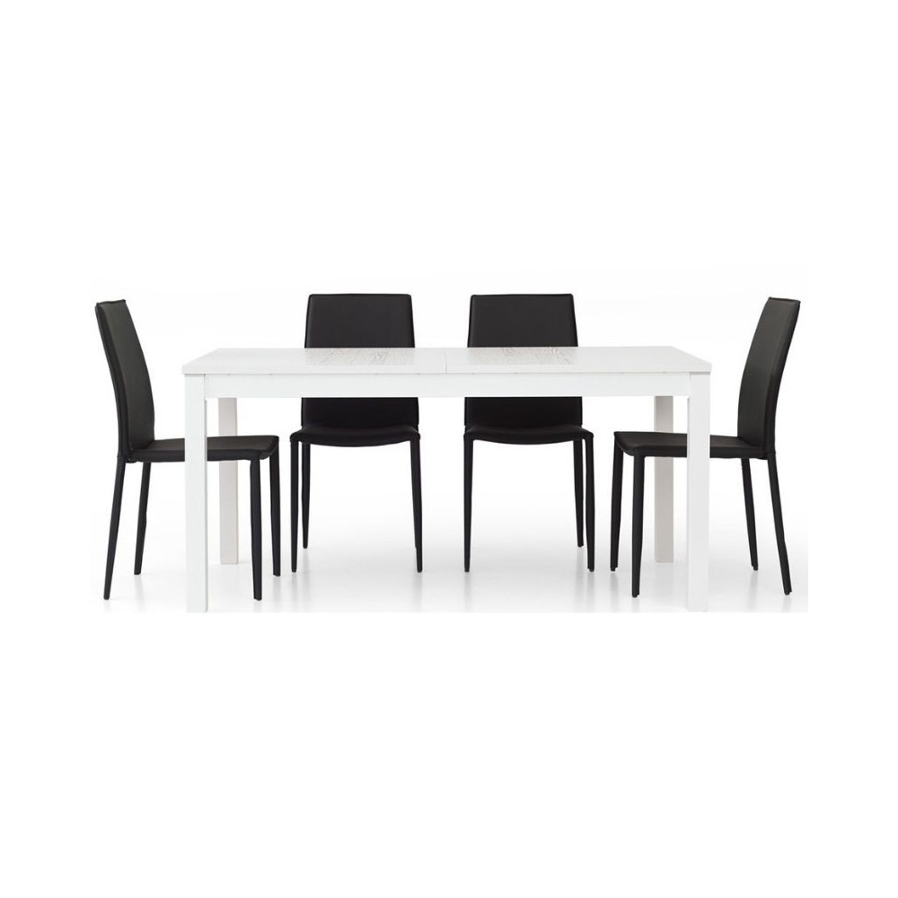 Fans 1 modern table in white ash