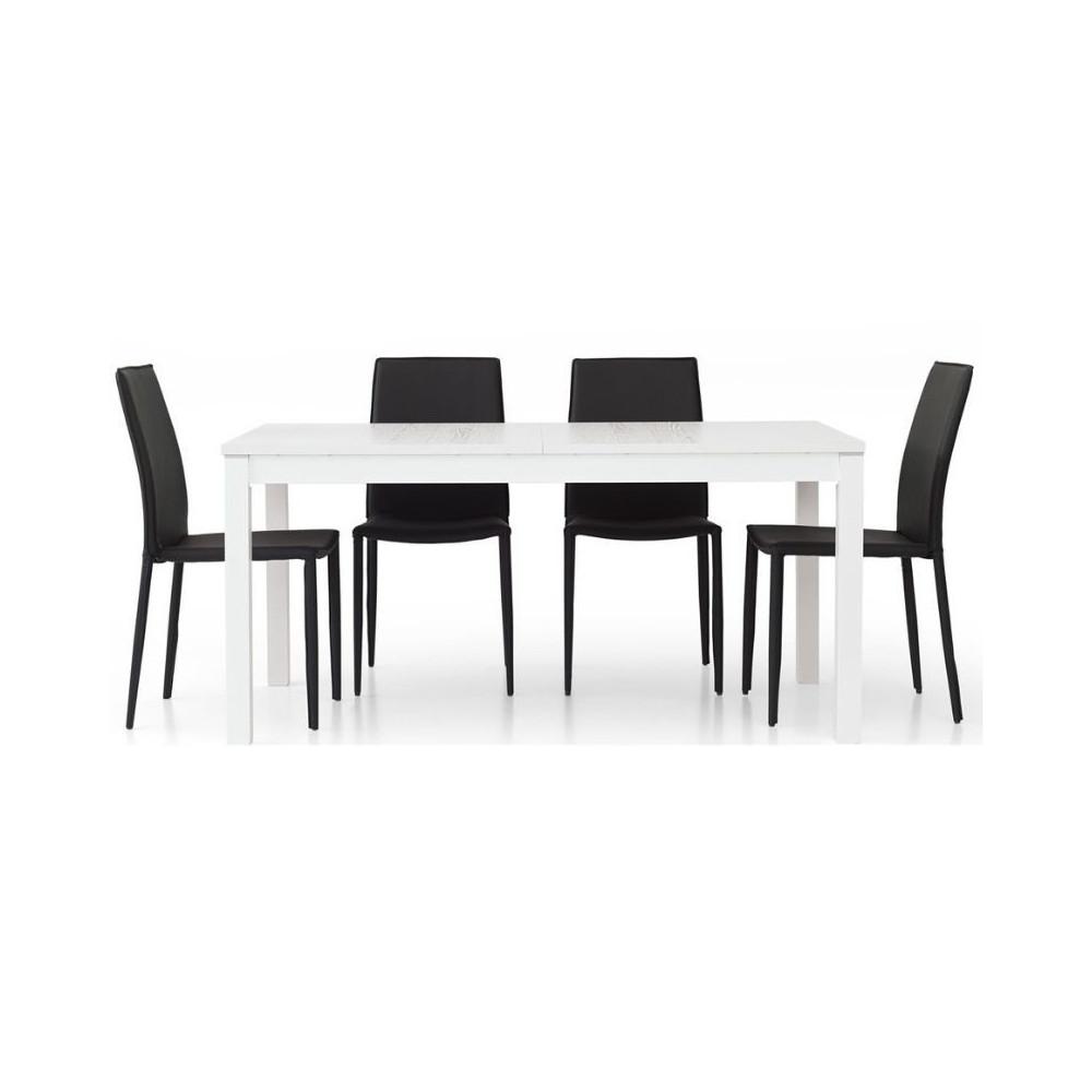 Fans 1 table moderne en stratifié frêne