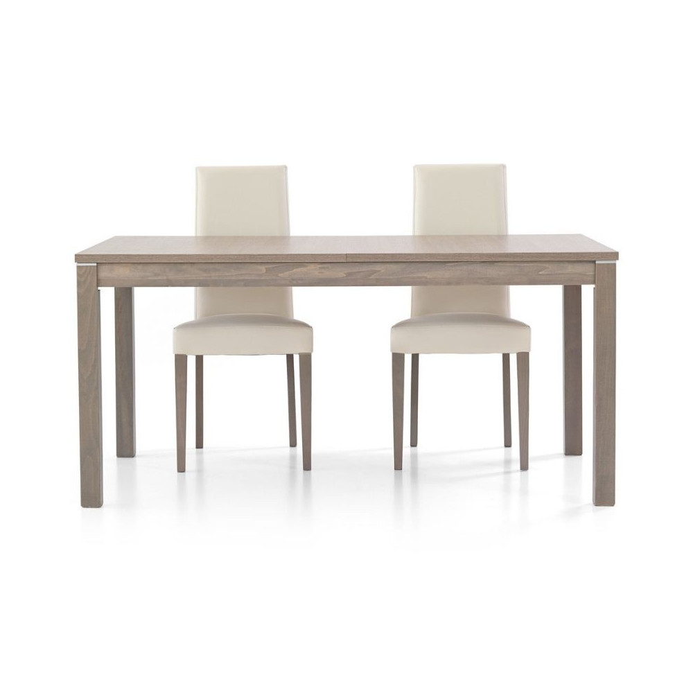Tavolo moderno Fans 2 in laminato rovere
